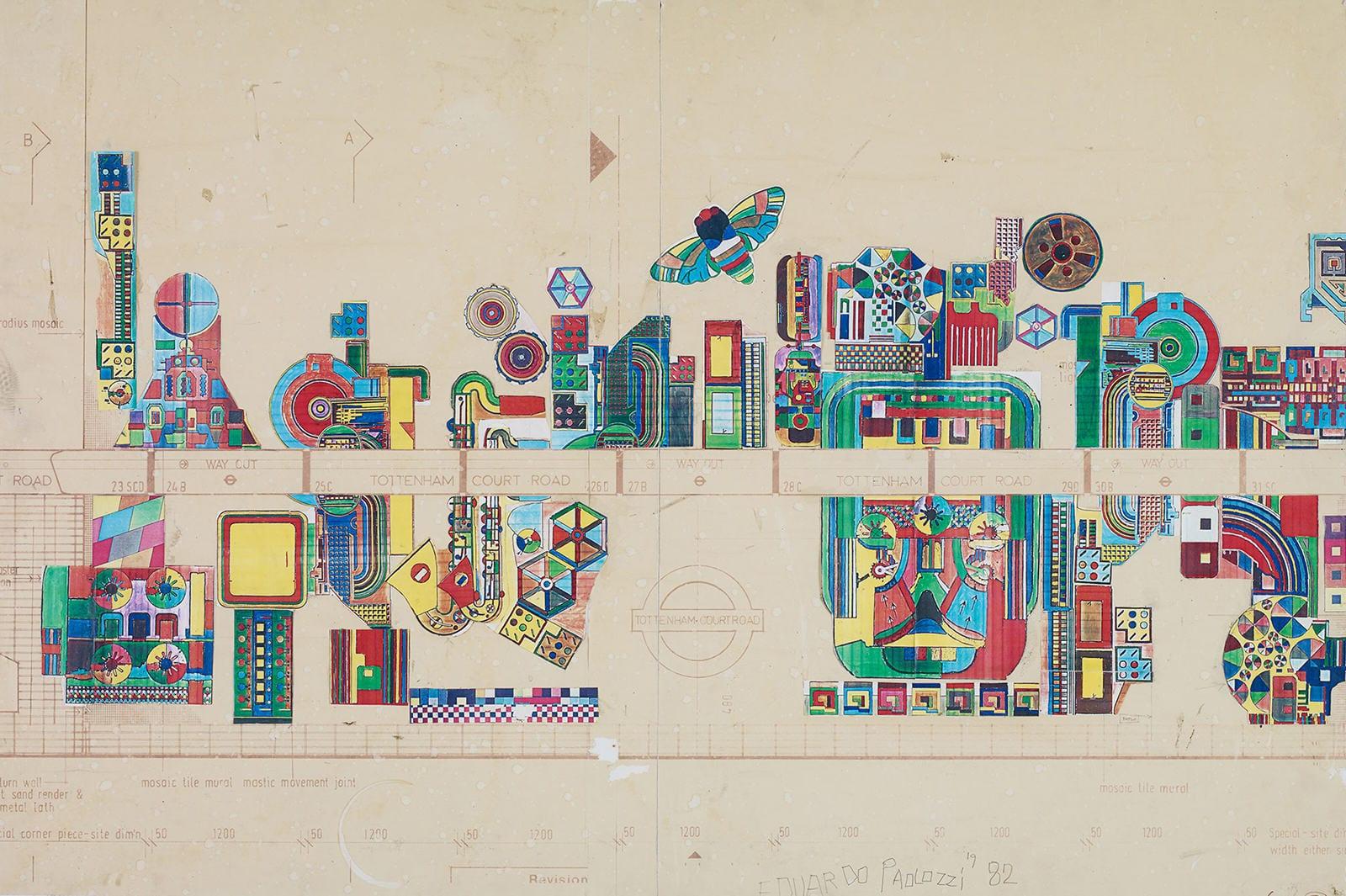 Nueva vida para los mosaicos de Paolozzi