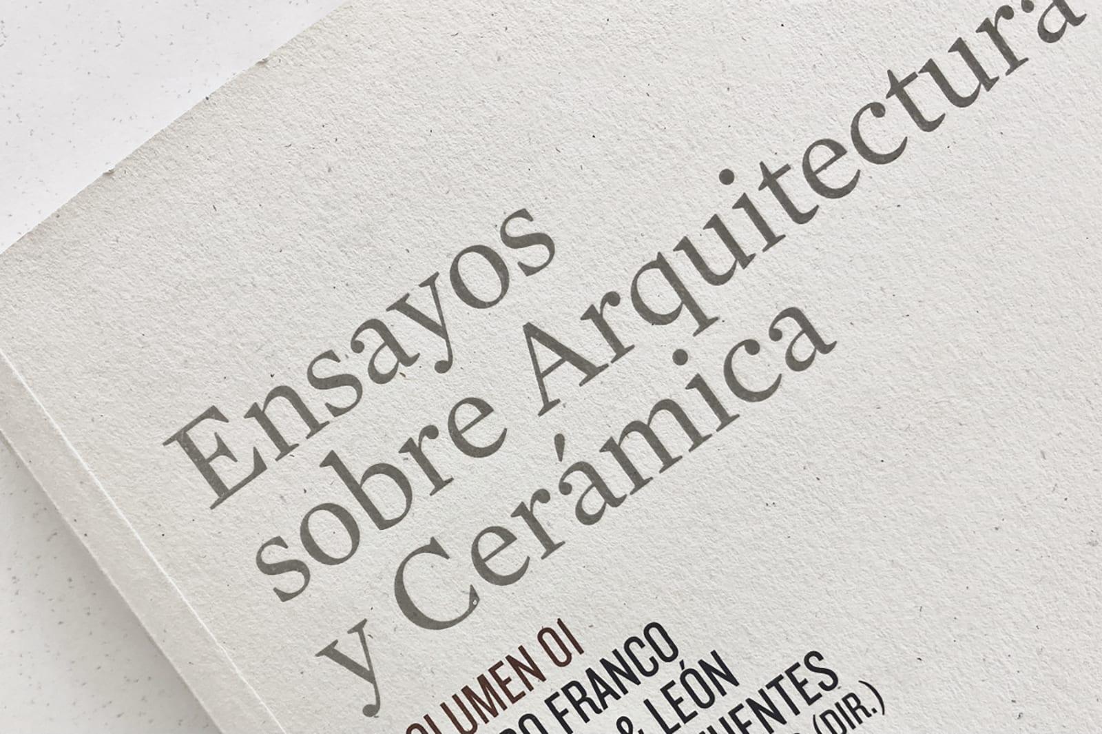 Ensayos sobre Arquitectura y Cerámica I